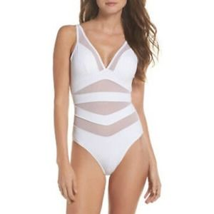 NEW Ted Baker Illiana Mesh One Piece Swimsuit